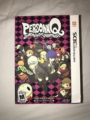 NEW SEALED PERSONA Q Shadow of the Labyrinth with Tarot Card Set 3DS