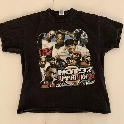 37dad1980 Vintage Hot 97 Summer Jam Hip Hop T-Shirt Busta Rhymes Ludacris Dipset T.I.