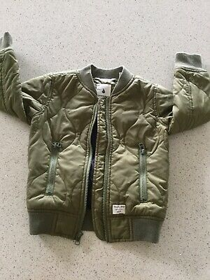 Country Road Boys Quilted Jacket Size 2-3 Khaki