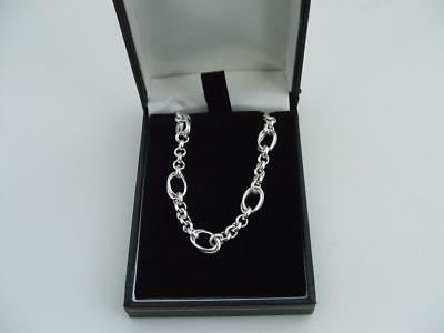 New 925 Sterling Silver Hallmarked Hand Made Necklace Chain 18 Inch Long 22 Gram