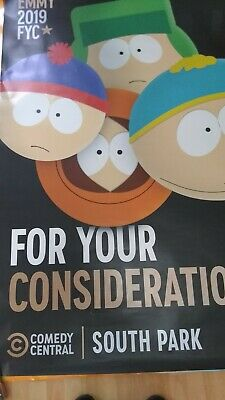 South Park 2019 Emmys Fyc Bus Stop Shelter Poster Stan, Kenny & Cartman
