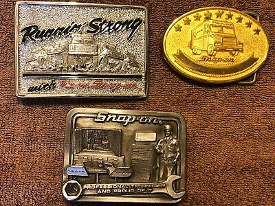 Vintage Lot of of Snap-On Tool Belt Buckles