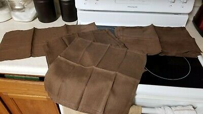 Vintage Brown Linen Placemats, Napkins, and Table Runner Made in Ireland