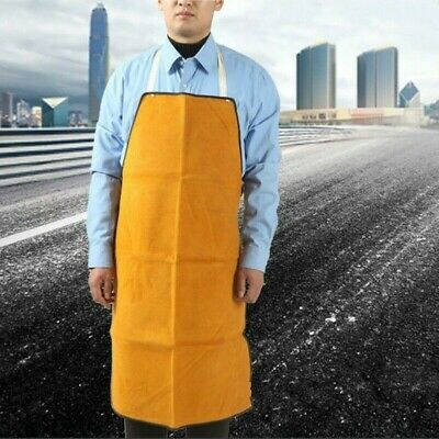 Welding Long Leather Apron Soldering Workwear Solder Protection Accessories EAN