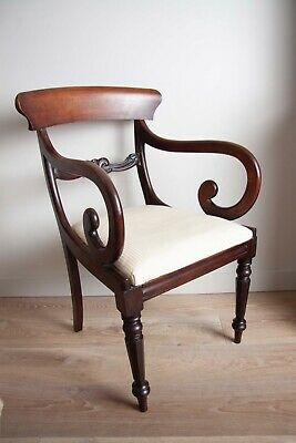 Victorian Mahogany Scroll armchair or desk chair