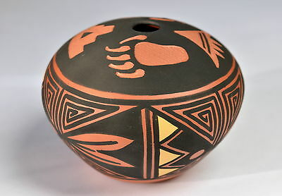 Vintage ACOMA PUEBLO Seed Pot Pottery by LOUIS Mesa Art Indianer Native American