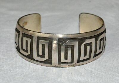 Armspange Original Hopi Native Indian Overlay Armreif Armband Sterling Silver