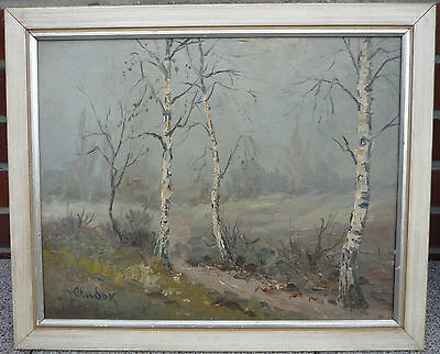 Ludwig von Andok 1890 - 1981 Hungary * signed listed * Oil on Woodplatte Antique