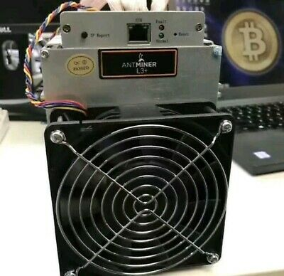 BITMAIN ANTMINER L3+ 504 Mh/sLitecoin Scrypt Miner includes Power Supply !!