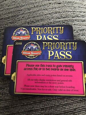 Alton Towers Priority Pass - Fast Track X 2 (Four People)