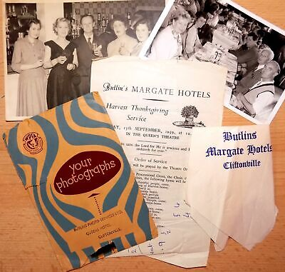 Butlins Holiday Camp Margate/Cliftonville 1959 Memorabilia