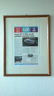 2002 Acura Tl Genuine Original & New Acura Poster From Usa Today Rare Mint Item