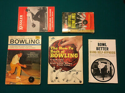 Lot of 5 Vintage Bowling Books