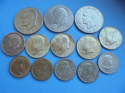 United States, Half Dollar & Dollar Collection, (some Silver), as shown.