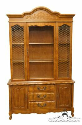 """High End Country French Provincial 50"""" Buffet w. Lighted Display China Cabinet"""