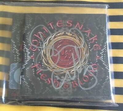 Whitesnake Flesh & Blood Cd Dvd Album 2019 With David Signed Autographed Booklet