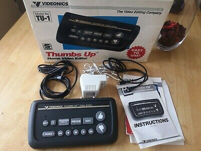 Home Video Editor Videonics Thumbs Up Model TU-1 W/Box AC Adapter AV Cable NICE!