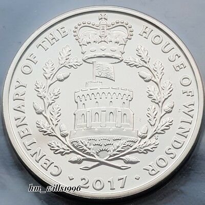 2017 Five Pounds £5 100th Anniversery of the  House Of Windsor BU Coin