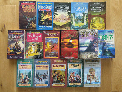 Fantasy book Job Lot Wholesale 16 books used VGC various authors