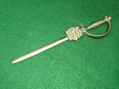 Vintage Collectable Hms Victory Brass Letter Opener