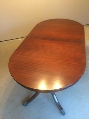 Reproduction Regency Extendable Mahogany Table with 6 regular + 2 Carver chairs