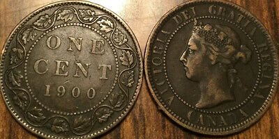 1900H Canada Large 1 Cent Coin Penny G+ Buy 1 Or More Its Free Shipping!