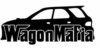 wagon mafia jdm sticker vinyl decal for car and others FINISH GLOSSY