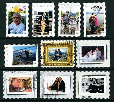 Weeda Canada Used lot of 10 personalized People/Portraits Picture Postage issues