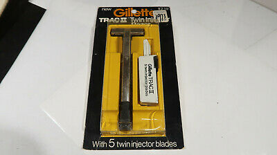Gillette CARDED Trac II Twin Injector Razor Safety Shaving