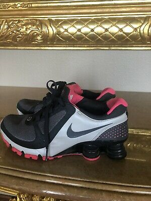 new style 77067 aa4f2 Vintage Nike Shox Womens Size 7.5 Gray Pink Running Shoes Excellent  Condition