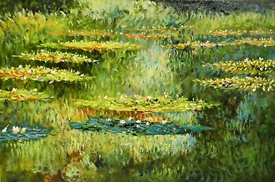 Water Lilies by Claude Monet Oil Painting On Canvas for Home Interior Room Decor