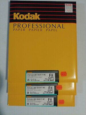 Kodak Panalure Select RC FH Glossy B&W 8X10 25ct Old stock Sealed packs