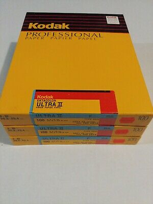 Kodak Ektacolor Ultra II F RA 8x10 Paper type 2839 100ct old stock Sealed Box