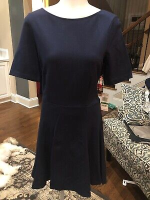 5179d099 NWT Women's A-line Navy Dress Large By Bar III From Macy's $79.50 Retail
