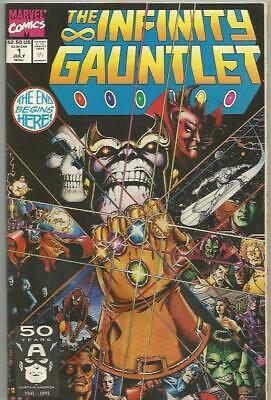 The Infinity Gauntlet #1 (July 1991) By Jim Stalin Marvel Comics Mid Grade