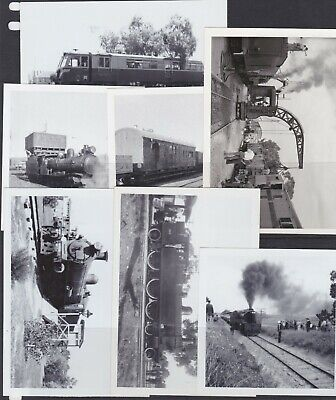 7 x original photos of TRAINS Adelaide SAR South Australian Railways 50's 60's