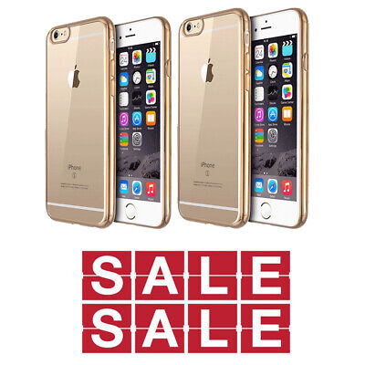 Buy 50 Clear Gold TPU Phone Cover iPhone 6plus 6s plus CLEARANCE SALES 80% OFF