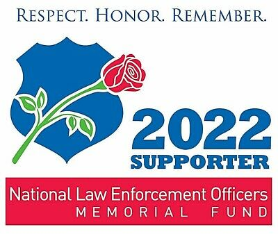 2019 National Law Enforcement Officers Memorial Fund Police Pba Supporter Decal