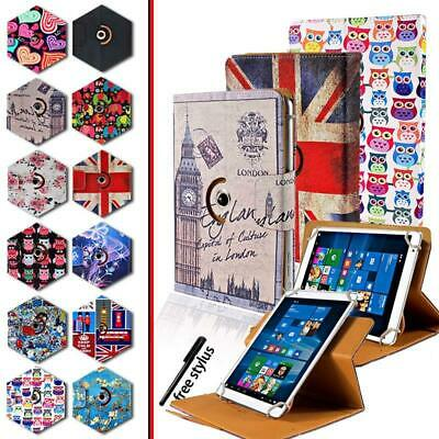 """Folio Rotating Stand Wallet Leather Cover Case For 8"""" 10"""" Teclast tablet +Stylus"""