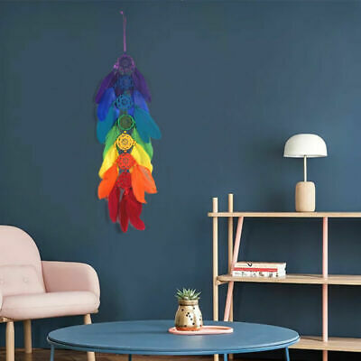 Large Handmade Dream Catcher feather wall car hanging decoration ornament 7color