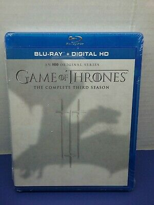 Brand New Sealed GAME OF THRONES SEASON THREE 3 COMPLETE THIRD Bluray + Digital