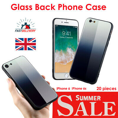20x White-Grey Gradient Glass Back Case iPhone 6 6s BULK SALE 90% OFF!