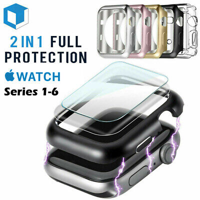 For Apple Watch Series 4/3/2/1 Bumper Case 40MM 44MM Full Cover Screen Protector