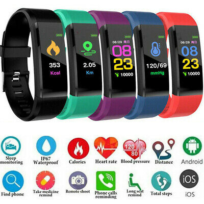 2019 Women Men Fitness Smart Watch Activity Tracker Heart Rate For Android iOS