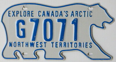 USA Number Licence Plate CANADA NORTHWEST TERRITORIES BEAR