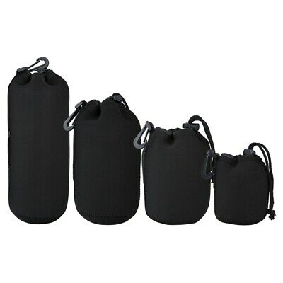 4Pcs DSLR Camera Lens Pouch Bag Neoprene Soft Bag Waterproof Case S+M+L+XL  Y6Y3