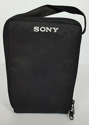 Sony Cassette Tape Holder Storage Black Bag Holds 10 Audio Tapes