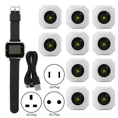 Wireless Caregiver Pager Smart Call Watch Pager Rechargeable LCD Display 110dBm