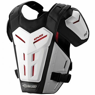 EVS Motocross Brustpanzer Revo 5 weiß MX Roost Guard Enduro Cross