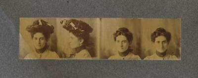 Cabinet Card Photo Cab73 Photo Of Woman In Brimmed Hat & Without